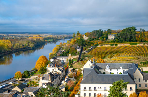 The Loire Valley, landscapes and nature stock photo