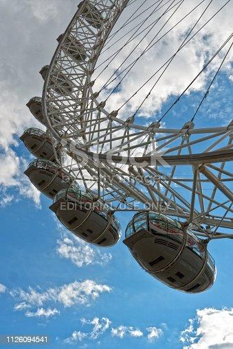 London, UK - July 2017: The London Eye