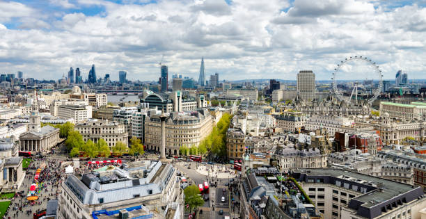 The London Skyline A Panoramic of the London skyline london england stock pictures, royalty-free photos & images