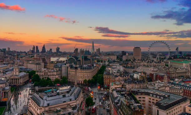 The London Skyline A Panoramic of the London skyline city of westminster london stock pictures, royalty-free photos & images