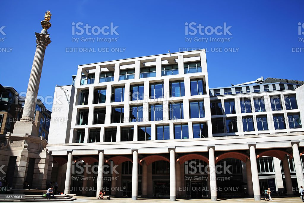 The London Stock Exchange In Paternoster Square stock photo