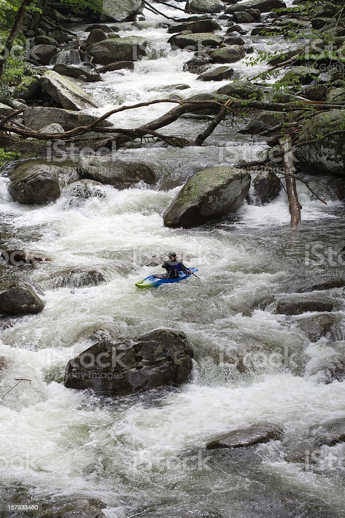 The Lone Kayaker royalty-free stock photo