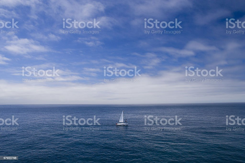 The lonely boat royalty-free stock photo