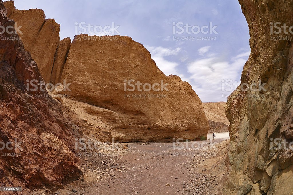 The lonely woman-tourist royalty-free stock photo