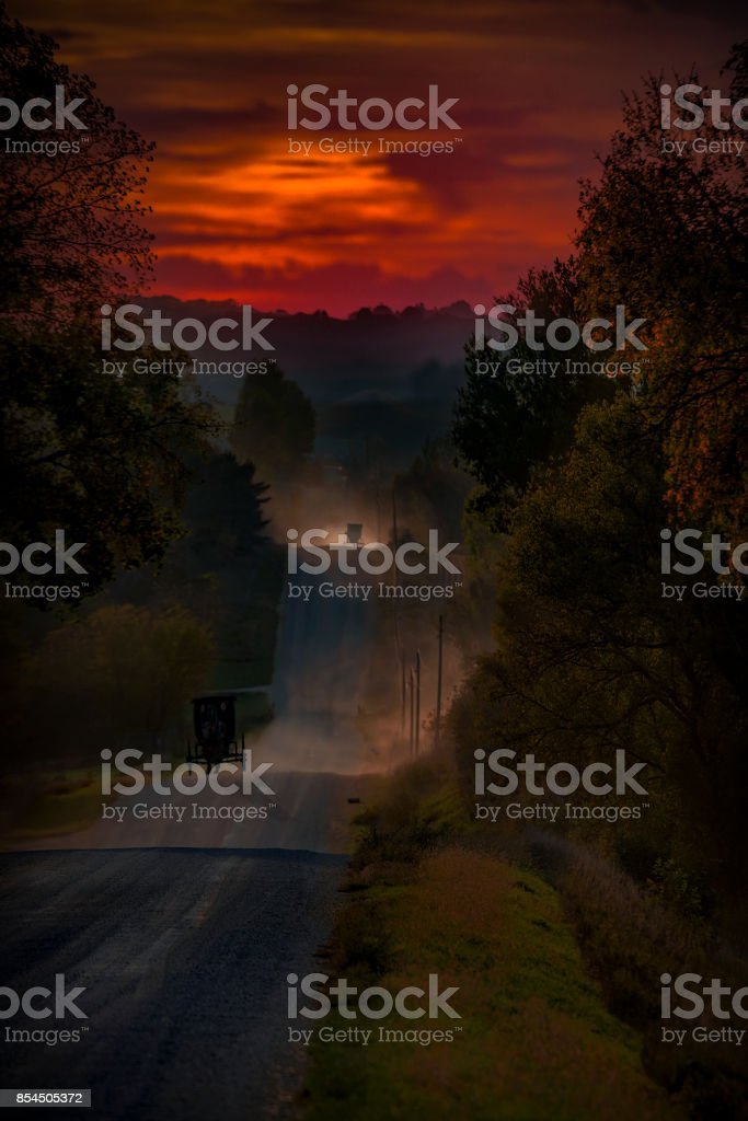 The Long Dusty Road Home stock photo