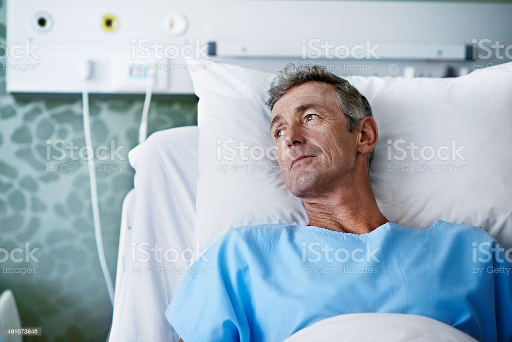 Image result for man in hospital istock