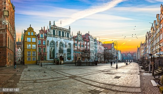 Old town of Gdansk with in the morning, Poland.