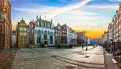 The Long Lane street in Gdansk