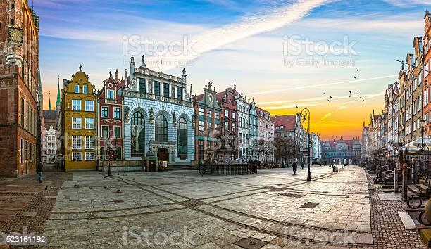 The Long Lane Street In Gdansk Stockfoto en meer beelden van Architectuur