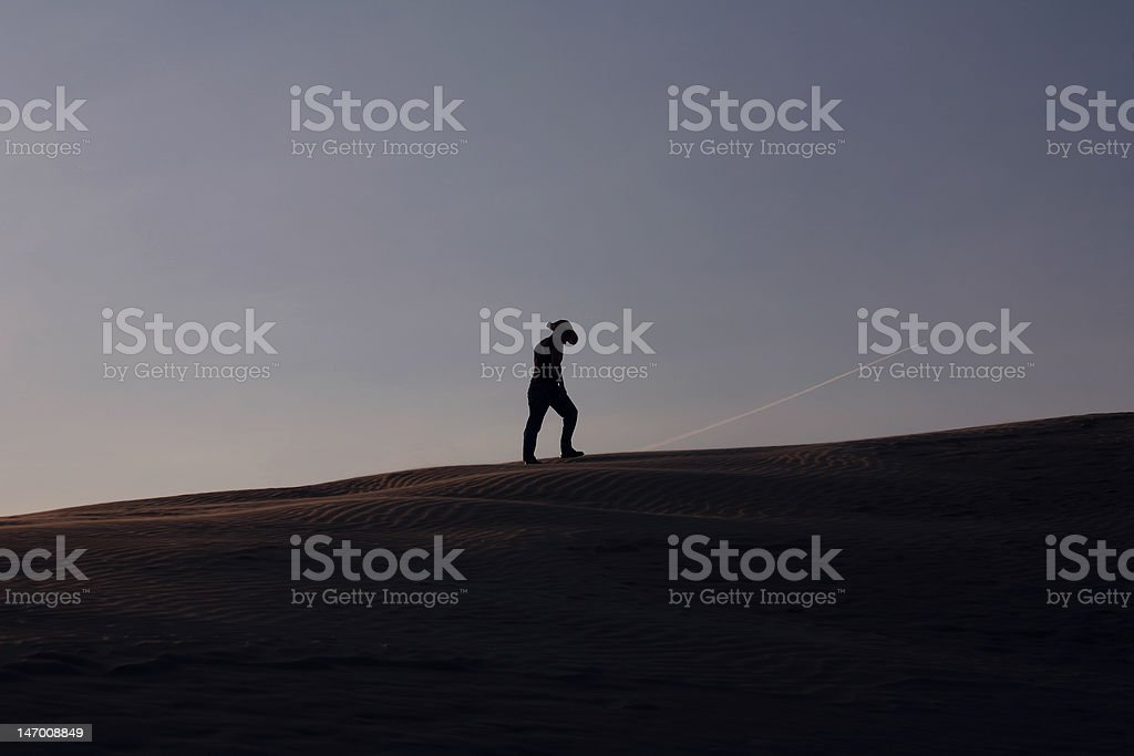 The long lonely walk royalty-free stock photo