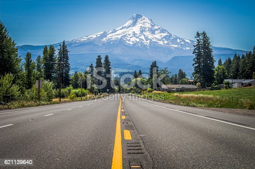 Driving along a highway when I turned a corner to have Mt. Rainier staring me in the face.