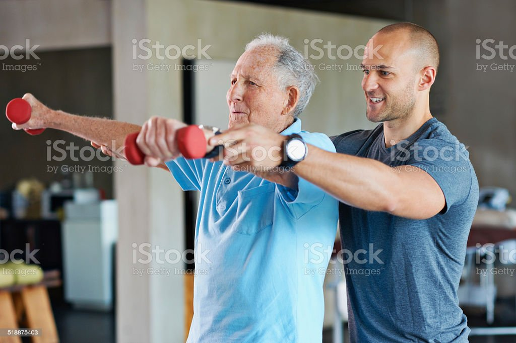 The long road to physical rehabilitation stock photo