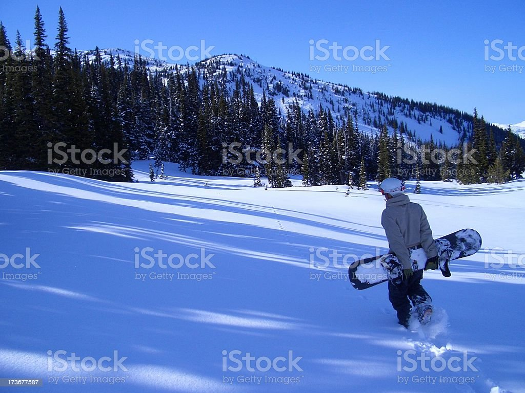 The long trek home royalty-free stock photo