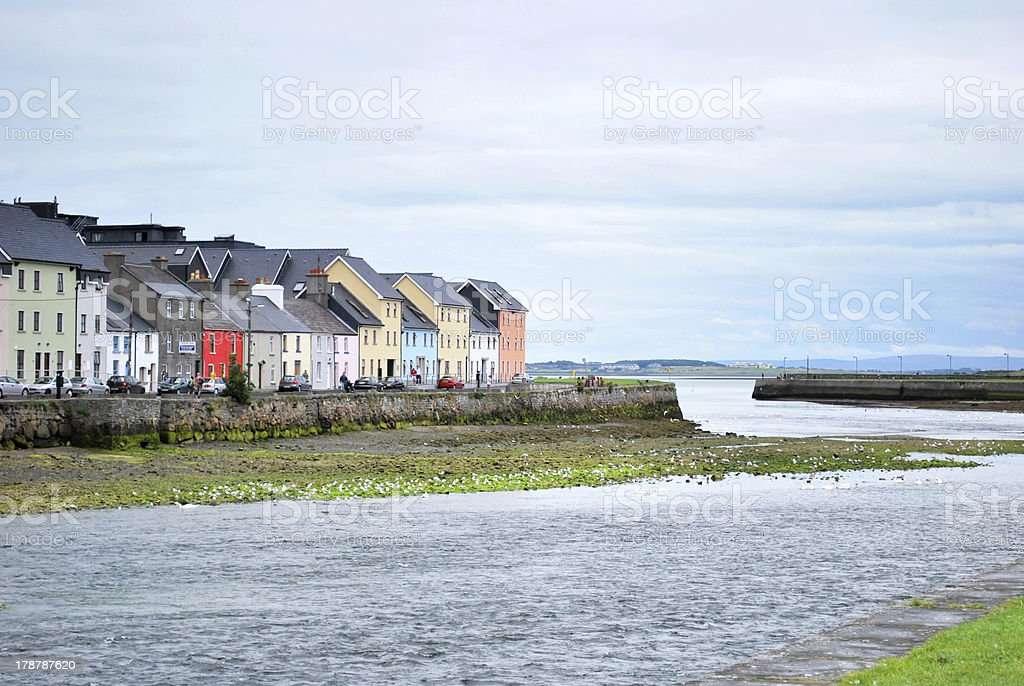 The long walk in Galway stock photo