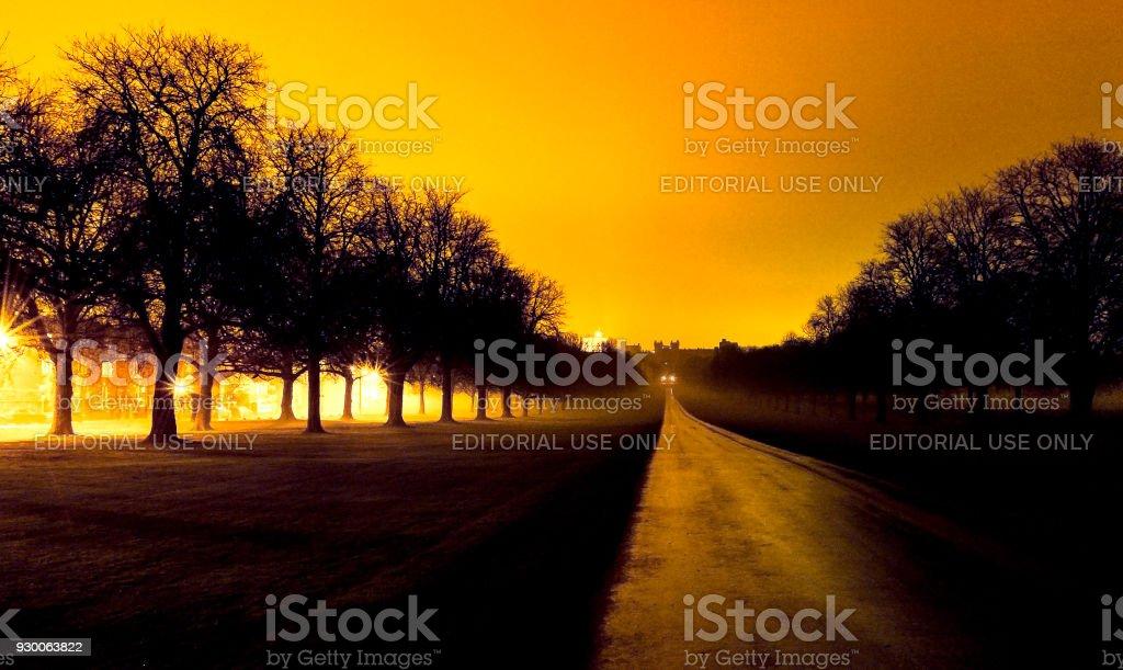 The Long Walk in Windsor, stock photo