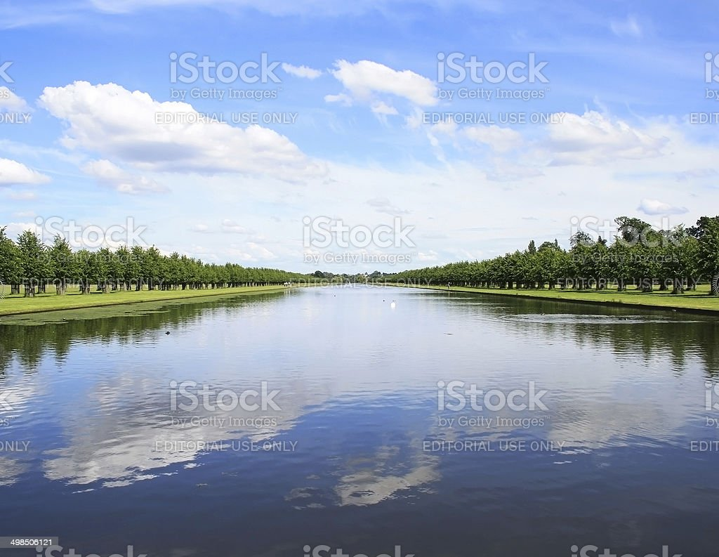 The Long Water in Hampton Court Palace Gardens (London) stock photo