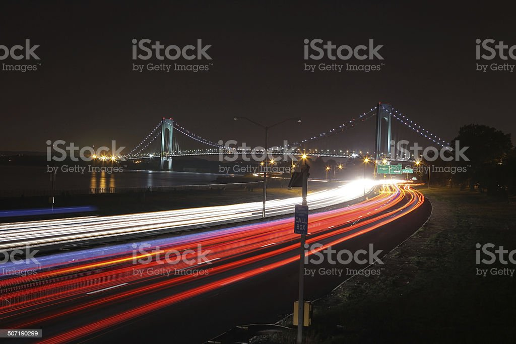 The longest bridge in New York City stock photo