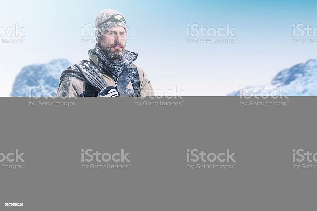 The look of a conquerer stock photo