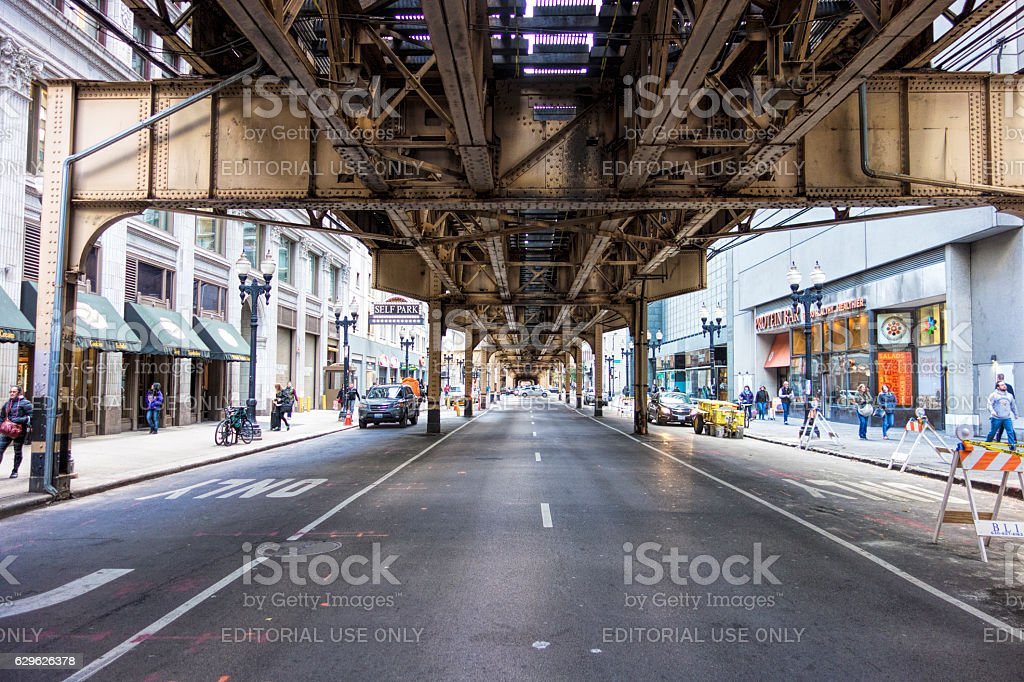 the loop in Chicago stock photo