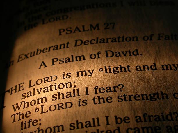 the lord ist mein leichter - psalm stock-fotos und bilder