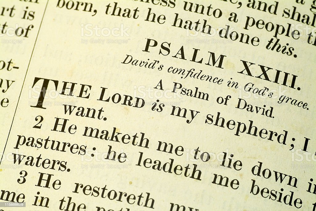 The Lord is my Shepherd royalty-free stock photo