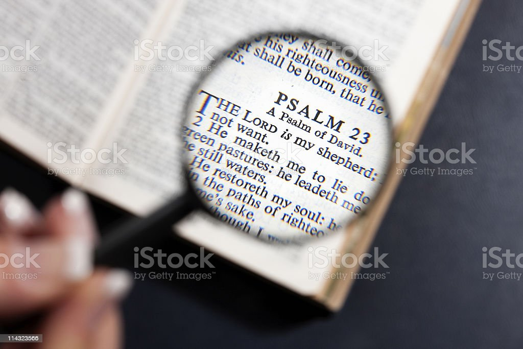 The Lord Is My Shepherd: Psalm 23 stock photo