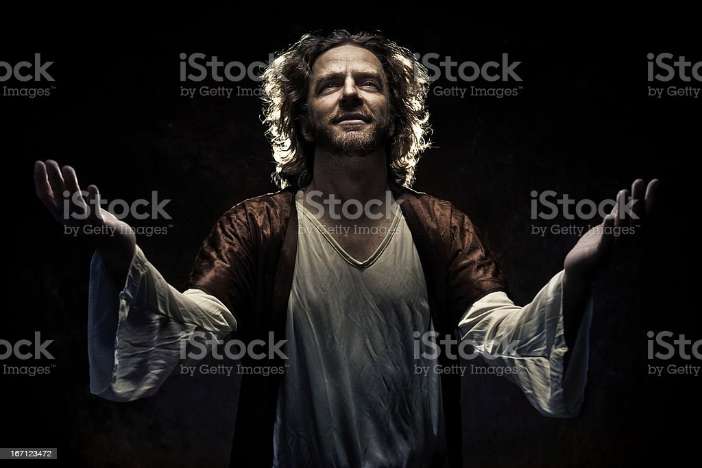 The Lords Prayer stock photo