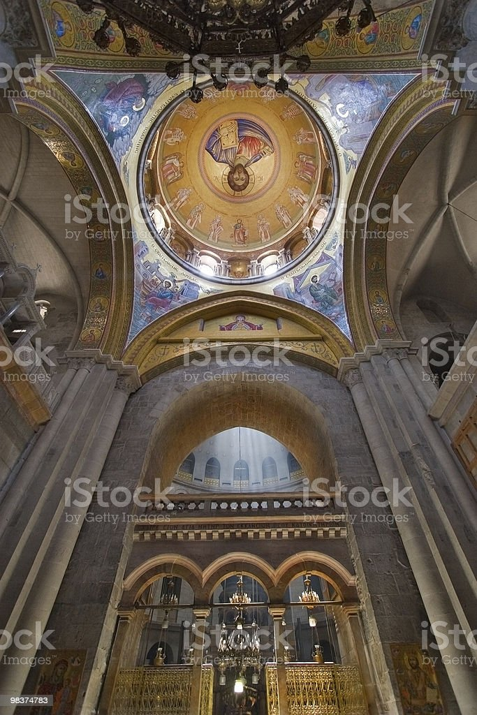 The Lord's Tomb Temple in Jerusalem royalty-free stock photo