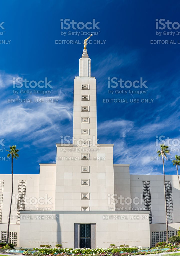 The Los Angeles California Temple stock photo