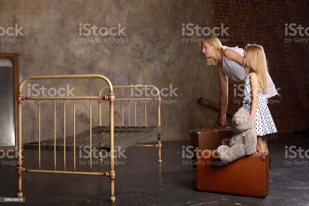 The loss of property and moving to a poor room Lizenzfreies stock-foto