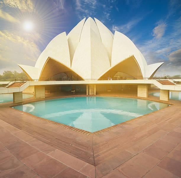 Cтоковое фото Lotus Temple, расположенной в Нью-Дели, Индия.