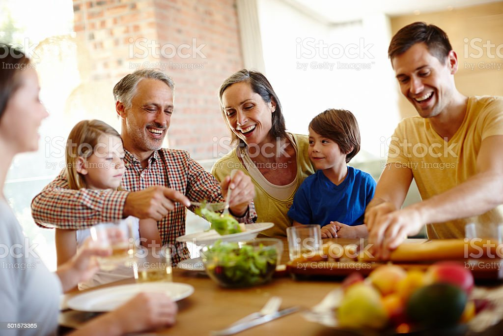 The love of a family is life's greatest blessing stock photo