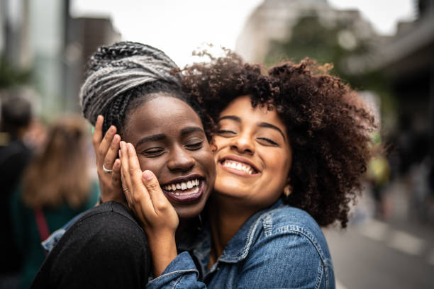 The Love of Best Friends Diversity african american ethnicity stock pictures, royalty-free photos & images