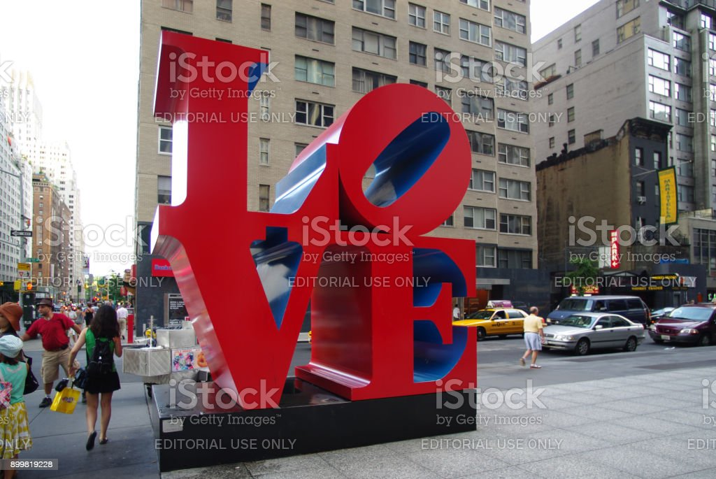 The love sculture in New York stock photo