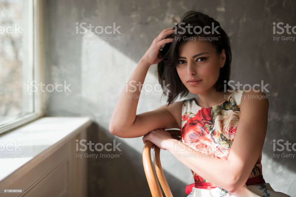The Loveliest Girl stock photo