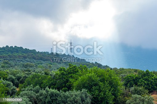 The low clouds over mountains