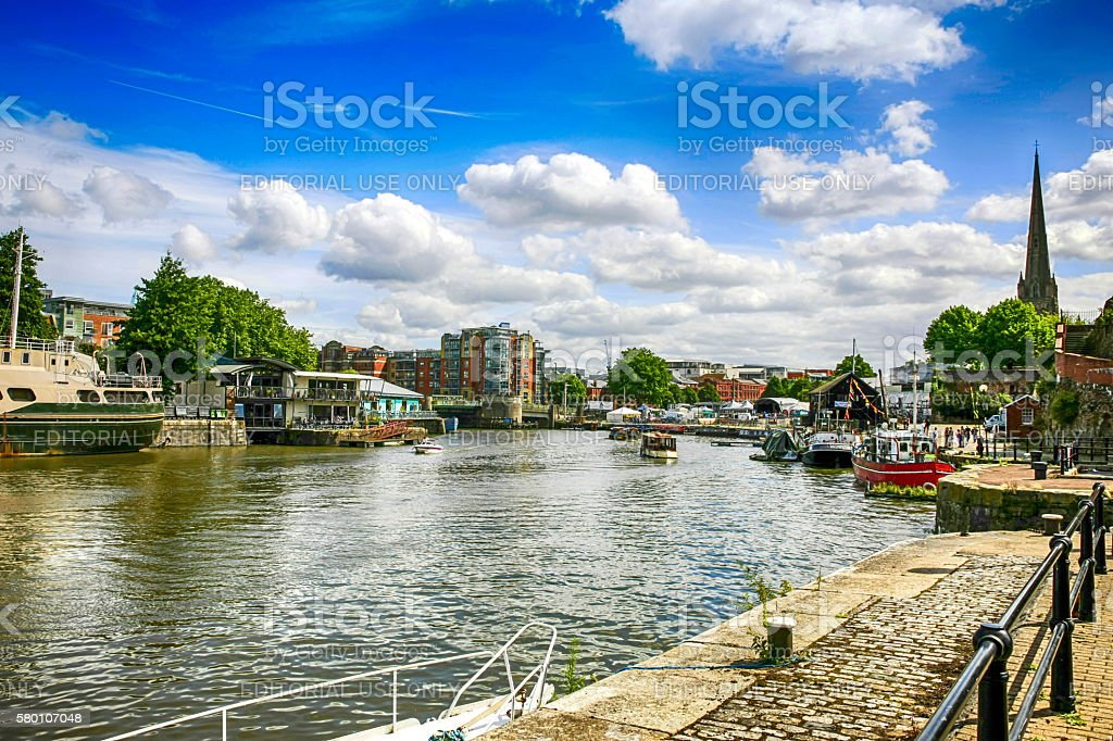 The Lower Docks area of Bristol, UK stock photo