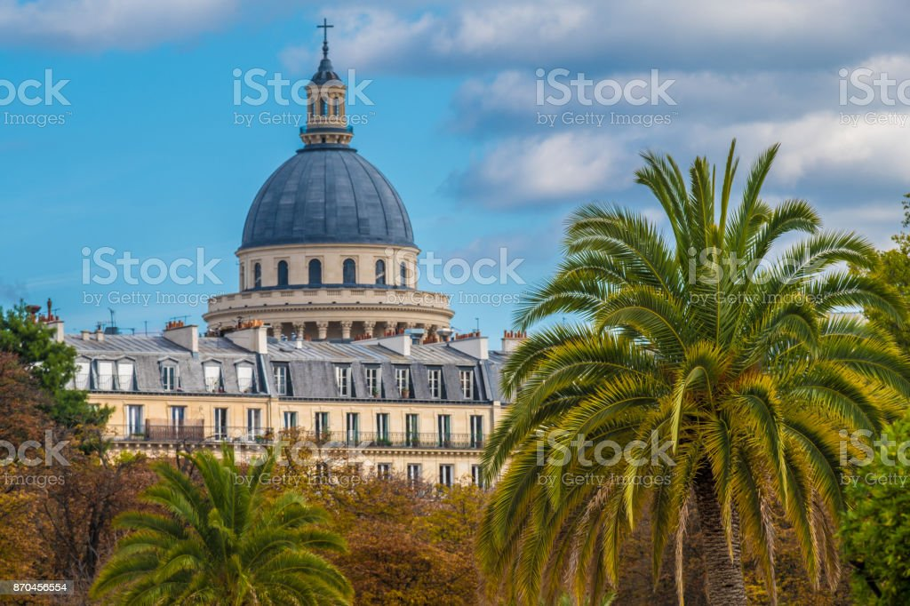Le Jardin du Luxembourg on a fine autumn day, Paris stock photo