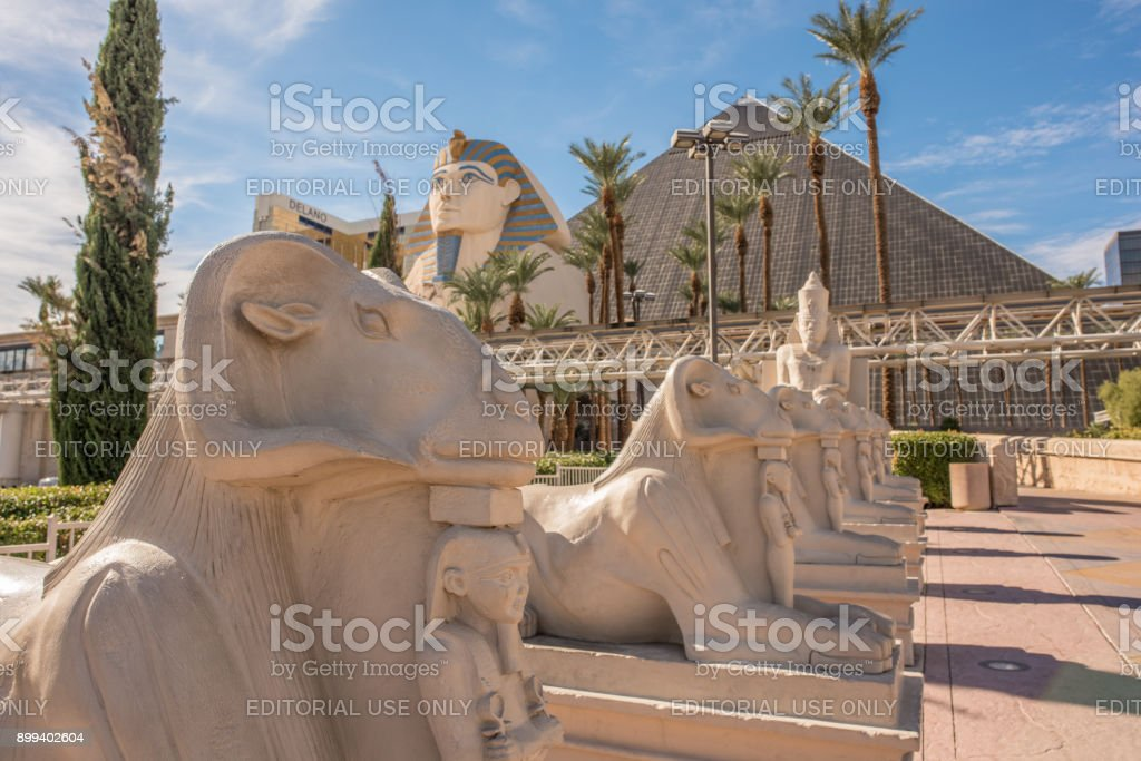 The Luxor Hotel and Casino in Las Vegas stock photo