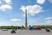 Street view of Place de la Concorde in Paris, France