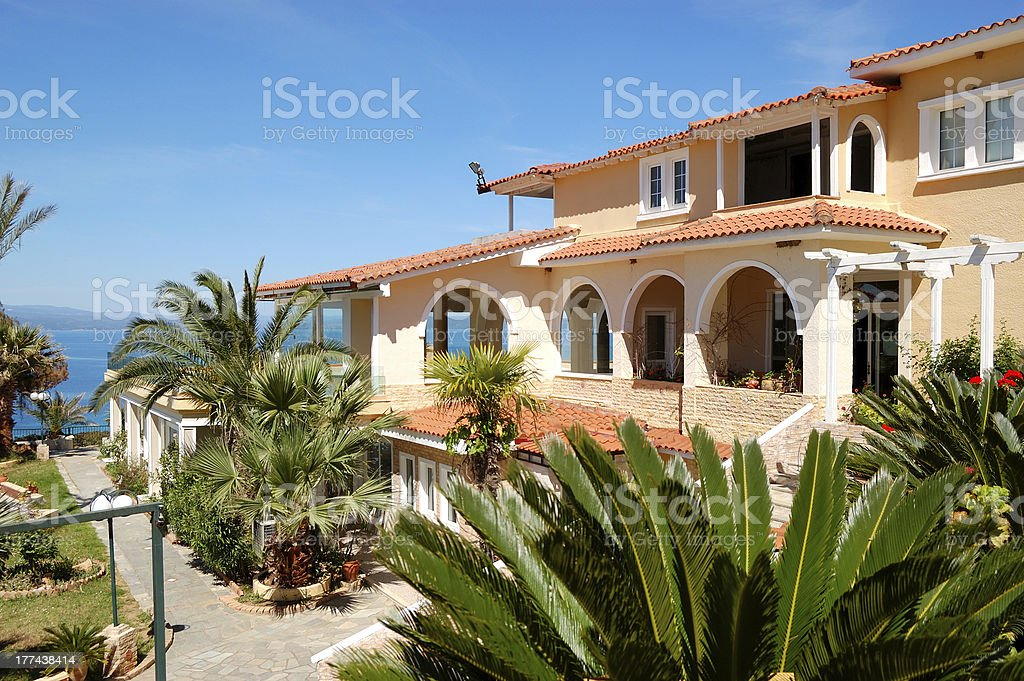 The Luxury Hotel Restaurant Exterior Halkidiki Greece Stock Photo Download Image Now Istock
