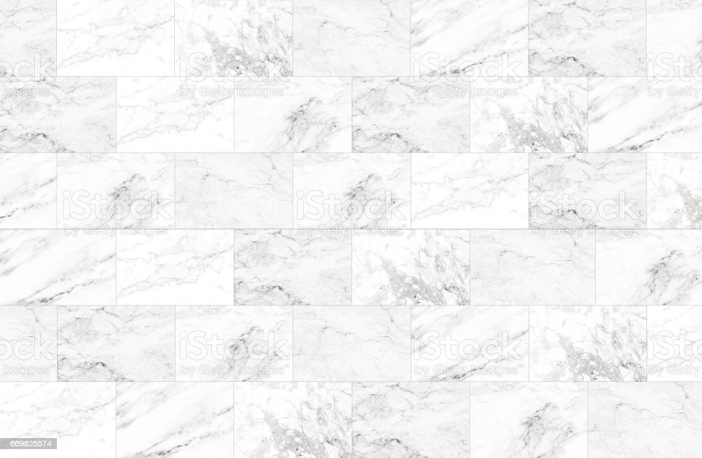 The luxury of white marble tiles texture and background. - Photo