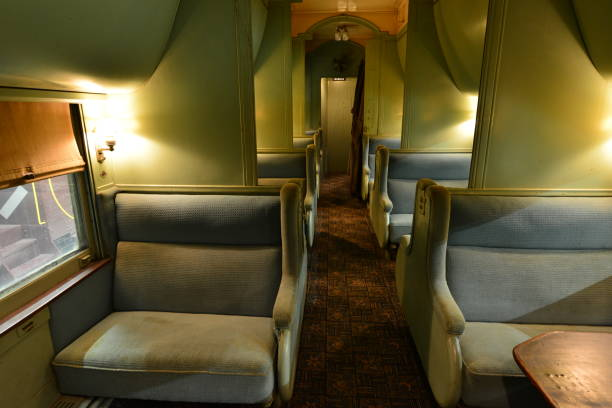 Der Luxus, in einem amerikanischen Pullman-Auto zu sitzen. – Foto