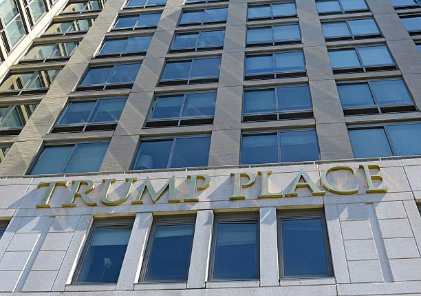 the luxury trump place apartments in manhattan - donald trump us president стоковые фото и изображения