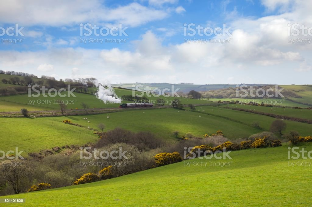 The Lynton and Barnstable Railway, North Devon, England stock photo