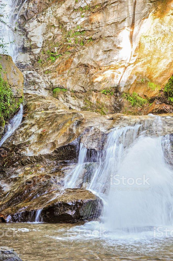 The Machay Waterfall stock photo