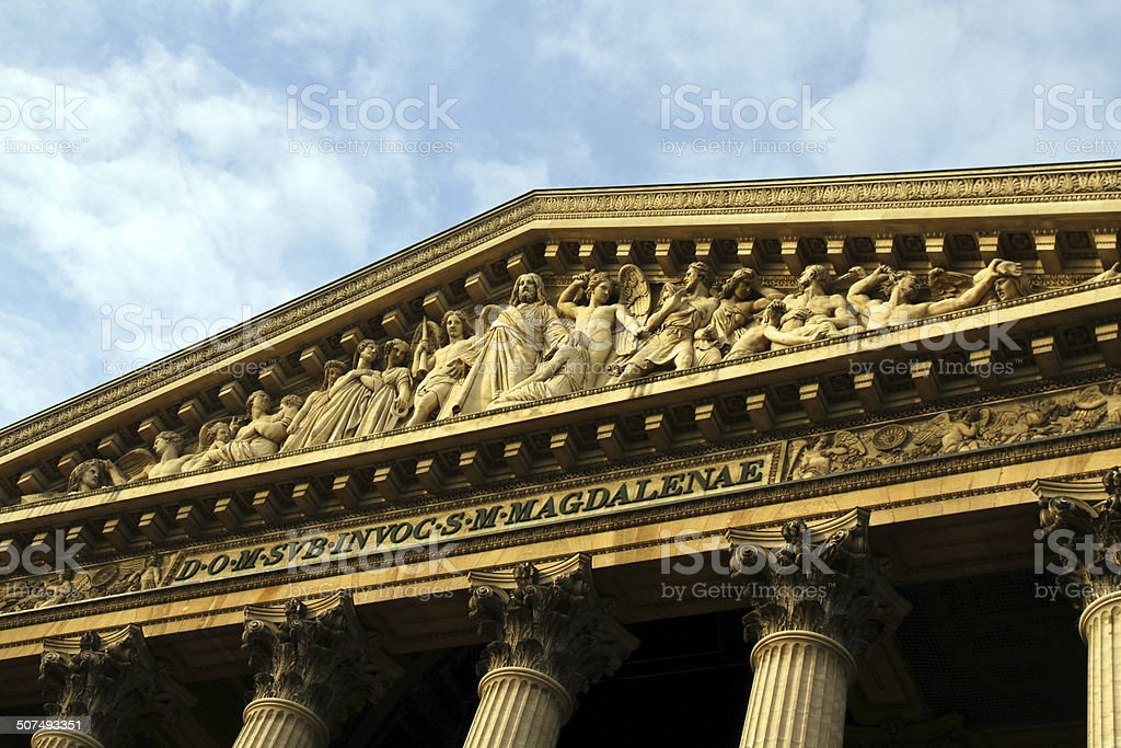 The Madeleine at Sunset royalty-free stock photo