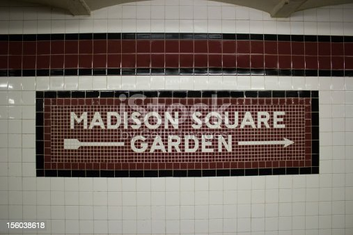 This is the subway station stop for Madison Square Garden, Manhattan, New York