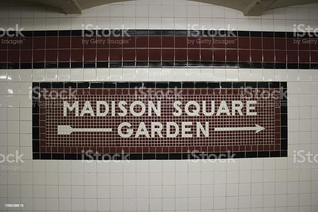 The Madison Square Garden Subway Station, NYC stock photo