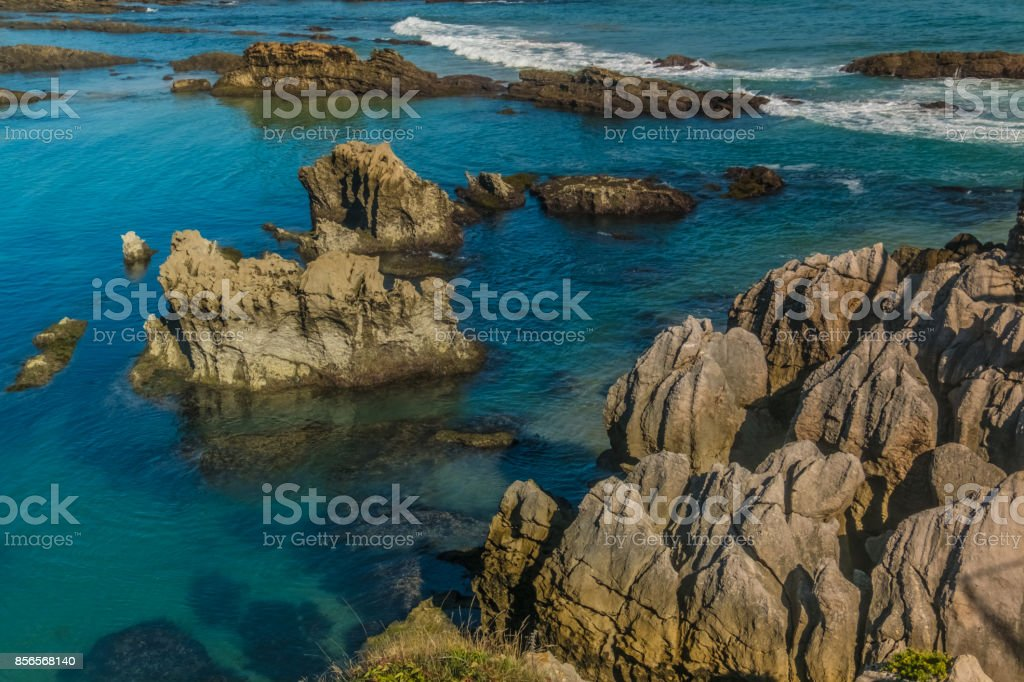 The Magdalena Peninsula at the entrance to the Bay of Santander in the port city of Santander, capital of Cantabria, northern Spain. stock photo